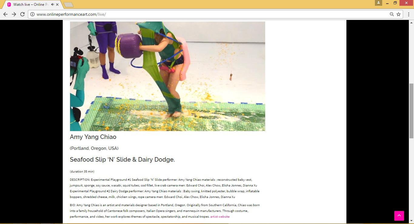 Amy Yang Chiao  (Portland, Oregon, USA)  Seafood Slip 'N' Slide & Dairy Dodge.