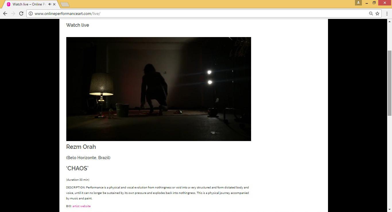 Rezm Orah  (Belo Horizonte, Brazil)  'CHAOS'